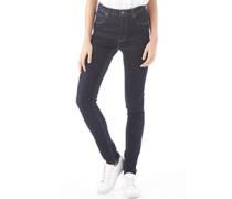 Damen Second Skin Skinny Jeans Dunkleblau