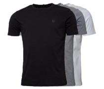 Herren Raul 3 Pack T-Shirt Mehrfarbig