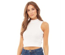 Breeze Ribbed High Neck Crop Top