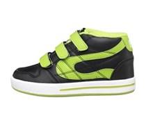 Duffs Junior Shoes Black/White/Lime