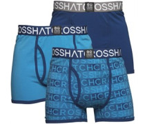 Phazer Drei Pack Boxershorts in lose Passform Blautöne