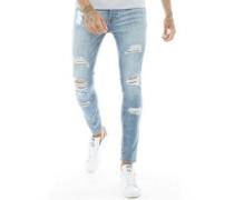 Leyland Ripped Skinny Jeans Verblasstes Hell