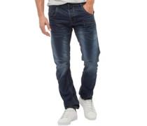 Herren Kractus Utility Jeans in Slim Passform Dunkelblau