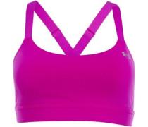 Womens HeatGear Eclipse Studio Lux Sports Bra Top Pink
