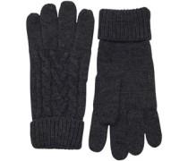 Cable Handschuhe Dunkelmeliert