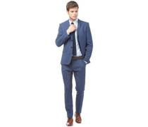 Herren Check Anzug Dunkelblau