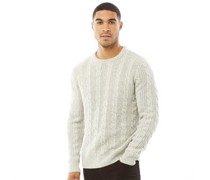Wool Cable 2 Pullover Steingraumeliert