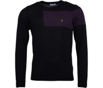 Mens Byton Wool Crew Sweater Black