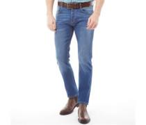 Stretch Jeans mit geradem Bein Mittel