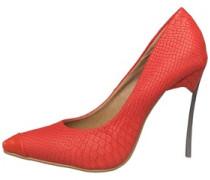 Little Mistress Womens Court Shoe Red