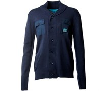Henleys Herren Tapped Button Strickjacke Navy