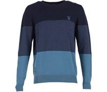 Herren Colour Block Coronet Pullover mit Rundhalsausschnitt Blau