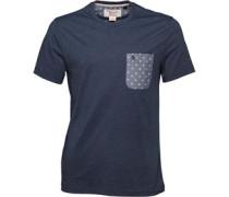 Original Penguin Mens Mini Print Oxford T-Shirt Poseidon Blue