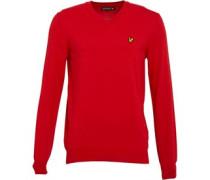 Herren Pullover mit V-Ausschnitt Rot