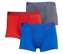 Yaron Performance Drei Pack Boxershorts Rot