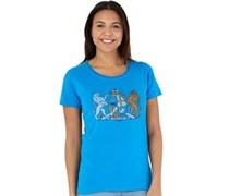 Canterbury Damen of Arm Swedish T-Shirt Blau