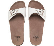 Damen Slider Sandalen White