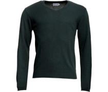 Herren Lambswool Mix Pullover mit V-Ausschnitt Grün