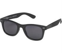 Herren Wayfarer Sonnenbrille Schwarz