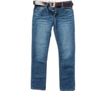 Herren Gambit Jeans mit geradem Bein Blau
