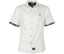 Firetrap Herren Hemd mit kurzem Arm Weiß