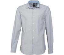 Dockers Herren Refined Poplin Jamey Foil Hemd mit langem Arm Grau