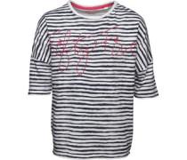 Mädchen Stripe T-Shirt Navy
