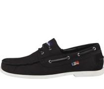 Mens Mainsail Boat Shoes Black