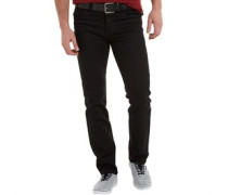 Herren Frontier Jeans in Slim Passform Solid Black/Black Belt