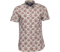Ted Baker Mens Bcrumbs Large Paisley Print Shirt White