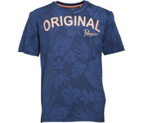 Original Penguin Junior Hibiscus Print T-Shirt Dark Denim