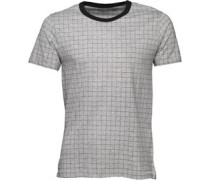 French Connection Mens Square T-Shirt Light Grey Melange