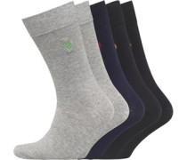 Fünf Pack Socken Grau