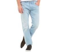 Herren Belther 0852I Jeans mit zulaufendem Bein Hellblau