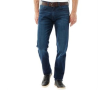 Herren Stretch Zip Fly Stretch Jeans in Slim Passform Dunkelblau