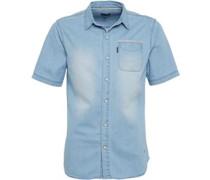 Firetrap Herren Christoff Hemd mit langem Arm Blau