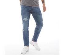 Kinistion Skinny Ripped Jeans Dunkelsteingrau