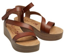 Lover Wedge Sandalen Dunkel