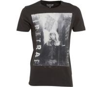 Firetrap Herren Toxic Pirate T-Shirt Schwarz