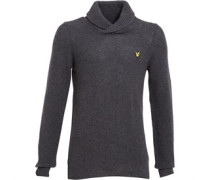Lyle And Scott Vintage Herren Shawl Neck Moss Stitch Strick Grau