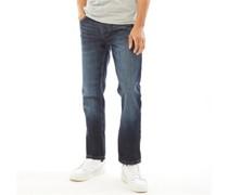 New Embossed Techno Jeans mit geradem Bein
