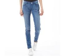 Damen Super Skinny Jeans Denimmeliert Blau