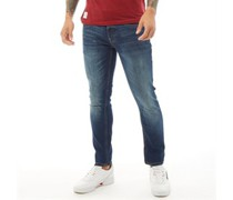 Barbeck Jeans in Slim Passform Verblasstes Mittel