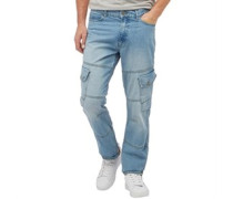 Herren Saddle Jeans in Slim Passform Hellblau