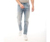 Stretch Leg Denim Jeans mit geradem Bein  gebleicht