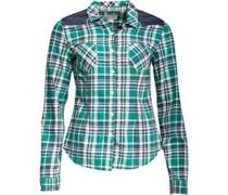 Womens Trilla Pocket Slim Fit Checked Short Sleeve Shirt Alpine Green