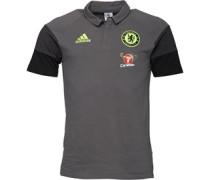 Herren CFC Chelsea Core Polohemd Grau