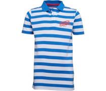 Firetrap Junior Striped Polo Deep Sky Blue