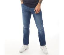 Princed Jeans mit geradem Bein Stonewash