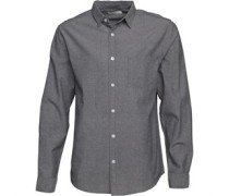Oxford Hemd mit langem Arm Grau